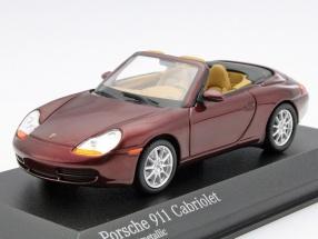 Porsche 911 (996) Cabriolet Baujahr 1998 rot 1:43 Minichamps