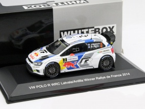 Volkswagen VW Polo R WRC #2 Winner Rallye de France 2014 Latvala, Antilla 1:43 WhiteBox
