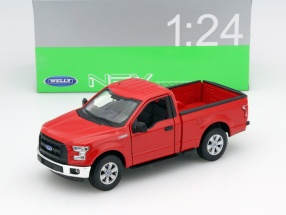 Ford F-150 Regular Cab Year 2015 red 1:24 Welly