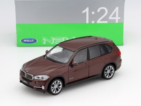 BMW X5 (F15) Year 2015 brown 1:24 Welly