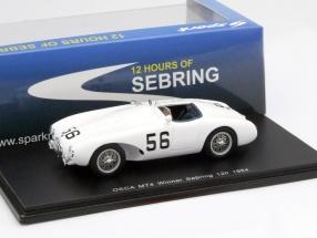 Osca MT4 #56 Winner 12h Sebring 1954 Moss, Lloyd 1:43 Spark