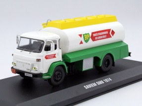 Saviem SM8 tanker Year 1974 white / green / yellow 1:43 Ixo