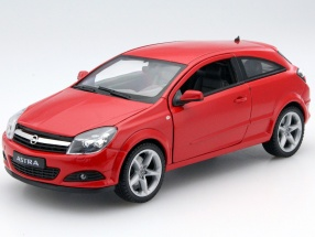 Opel Astra GTC Baujahr 2005 rot 1:18 Welly