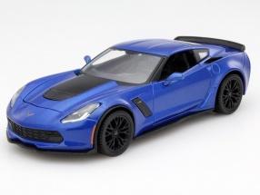Chevrolet Corvette Z06 Year 2015 blue 1:24 Maisto