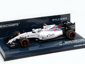 S. Wolff Williams FW37 #41 free practice Great Britain GP F1 2015 1:43 Minichamps