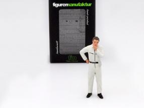mechanic with white overall pensive figure 1:18 FigurenManufaktur