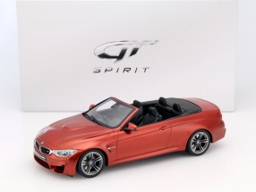 BMW M4 (F83) Cabriolet Year 2015 orange 1:18 GT-SPIRIT