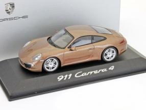 Porsche 911 Carrera 4 cognac brown metallic 1:43 Minichamps