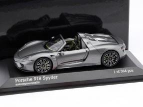 Porsche 918 Spyder Year 2013 gray metallic 1:43 Minichamps