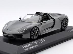 Porsche 918 Spyder Baujahr 2013 grau metallic 1:43 Minichamps