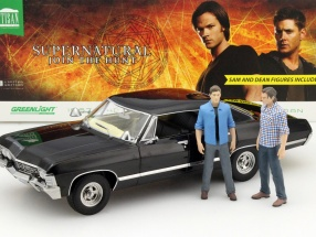 Chevrolet Impala Sport Sedan TV-Serie Supernatural 2005 with Sam and Dean figure 1:18 Greenlight