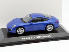 Porsche 911 (991) Carrera S blau metallic 1:43 Welly