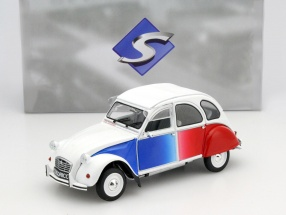 Citroen 2CV Cocorico weiß / blau / rot 1:18 Solido