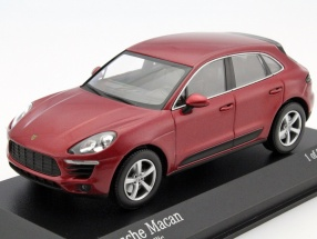 Porsche Macan Year 2013 red metallic 1:43 Minichamps