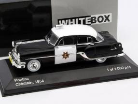 Pontiac Chieftain California Highway Patrol Baujahr 1954 1:43 WhiteBox