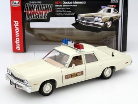 Dodge Monaco Illinois State Police Year 1975 1:18 autoworld