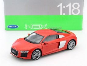 Audi R8 V10 Year 2016 red 1:18 Welly