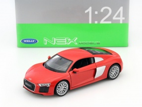 Audi R8 V10 Year 2016 red 1:24 Welly