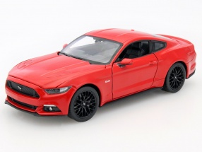 Ford Mustang GT Year 2015 red 1:24 Welly