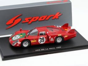 Alfa Romeo T33/2 #39 24h LeMans 1968 Giunti, Galli 1:43 Spark