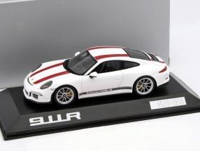 Porsche 911 R (991) white / red 1:43 Spark