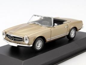 Mercedes-Benz 230 SL Year 1965 gold 1:43 Minichamps