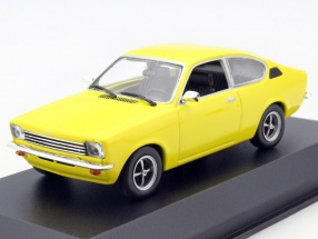 Opel Kadett C Coupe Year 1974 yellow 1:43 Minichamps
