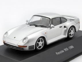 Porsche 959 Baujahr 1986 silber 1:43 Atlas