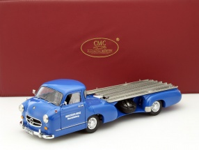 Mercedes-Benz Renntransporter Das blaue Wunder Baujahr 1955 blau 1:18 CMC