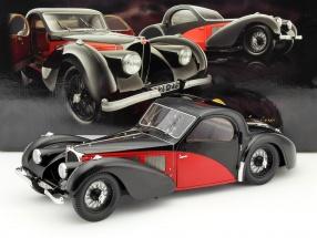 Bugatti Type 57 SC Atalante Year 1937 black / red 1:12 Bauer