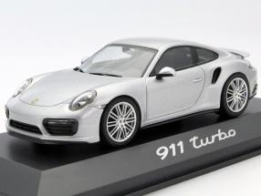 Porsche 911 (991/II) Turbo Coupe Baujahr 2016 silber 1:43 Herpa