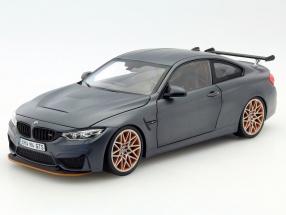 BMW M4 F82 GTS Baujahr 2016 matt grau / orange 1:18 Minichamps