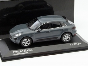 Porsche Macan Year 2013 gray metallic 1:43 Minichamps