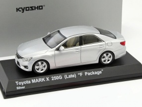 Toyota Mark X 250G (Late) F-Package silver 1:43 Kyosho