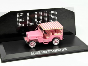 Jeep Surrey CJ3B Elvis Year 1960 pink 1:43 Greenlight