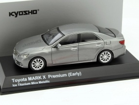 Toyota Mark X Premium (Early) gray mica metallic 1:43 Kyosho