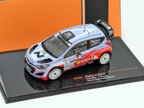 Hyundai i20 WRC #1 Winner Rally Antibes 2014 Bouffier, Panseri 1:43 Ixo