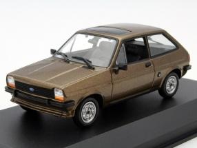 Ford Fiesta Baujahr 1976 braun 1:43 Minichamps