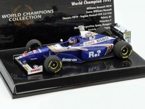 Jacques Villeneuve Williams FW19 #3 World Champion formula 1 1997 1:43 Minichamps