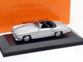 Mercedes-Benz 190 SL Year 1955 silver 1:43 Minichamps