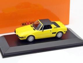 Fiat X1/9 Baujahr 1974 gelb 1:43 Minichamps