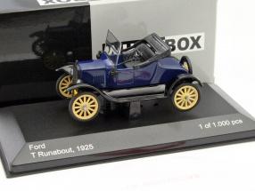 Ford T Runabout Baujahr 1925 blau / schwarz 1:43 WhiteBox