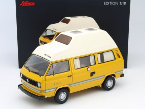 Volkswagen VW T3 Joker camper with high roof yellow 1:18 Schuco