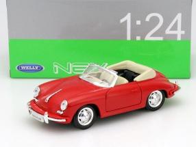Porsche 356B Baujahr 1958 rot 1:24 Welly