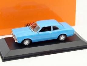 Ford Taunus Year 1970 blue 1:43 Minichamps