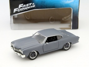 Dom's Chevrolet Chevelle SS Fast and Furious mat gray 1:24 Jada Toys