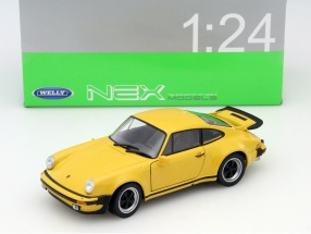 Porsche 911 Turbo 3.0 Baujahr 1974 gelb 1:24 Welly