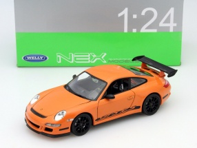 Porsche 911 (997) GT3 RS Year 2007 orange / black 1:24 Welly