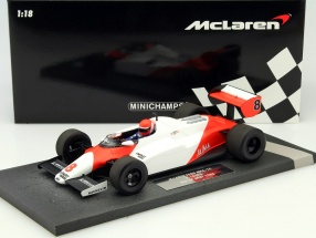 Niki Lauda McLaren MP4/1C #8 2nd USA West GP Formel 1 1983 1:18 Minichamps