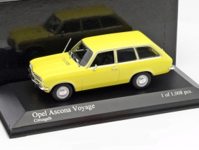 Opel Ascona Voyage Baujahr 1970 gelb 1:43 Minichamps